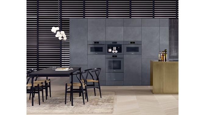Mit der neuen einbaugeräteserie artline können kunden ihre küche komplett ohne griffe ausstatten auch im farbton graphitgrau
