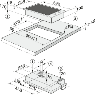 miele cs 1312 bg grill rahmen edelstahl kochfeld einbau. Black Bedroom Furniture Sets. Home Design Ideas