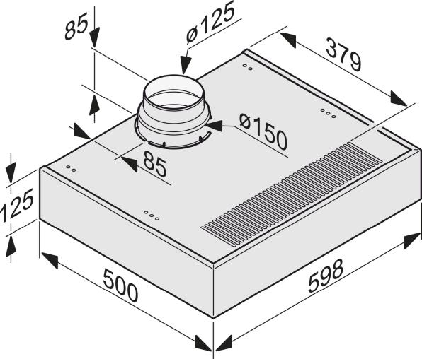 Einbauskizzen-mit energiesparender LED-Beleuchtung und Schiebeschalter für einfache Bedienung.-