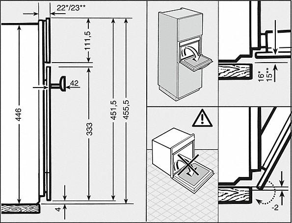 Einbauskizzen-mit puristischem Display und integrierten Sensortasten für einfachste Bedienung.-
