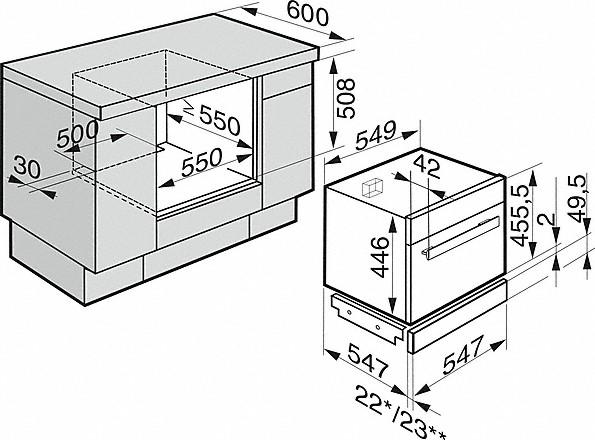 Einbauskizzen-- mit Combigaren und Automatikprogrammen für perfekte Garergebnisse.-