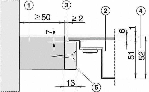 Einbauskizzen-mit TempControl für intelligentes & einfaches Braten-