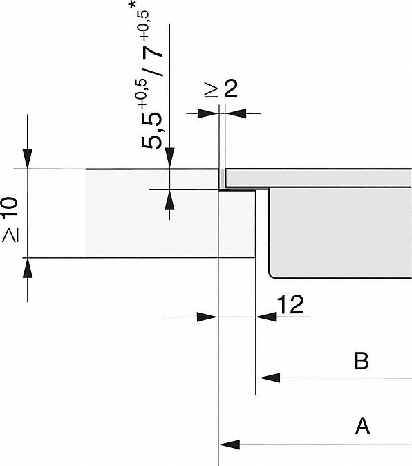 Einbauskizzen-als Tischlüfter für Ab- oder Umluftbetrieb.-