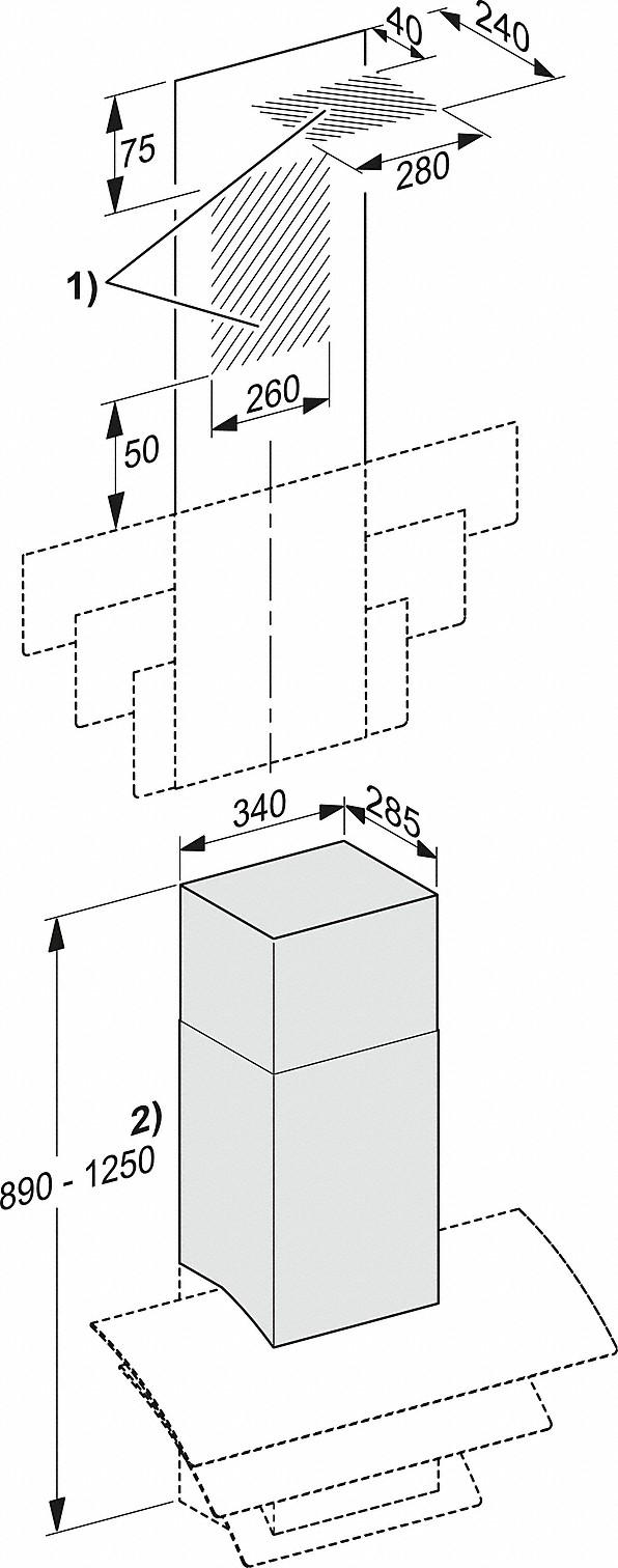 Einbauskizzen-für die alternative Abluftführung nach oben.-