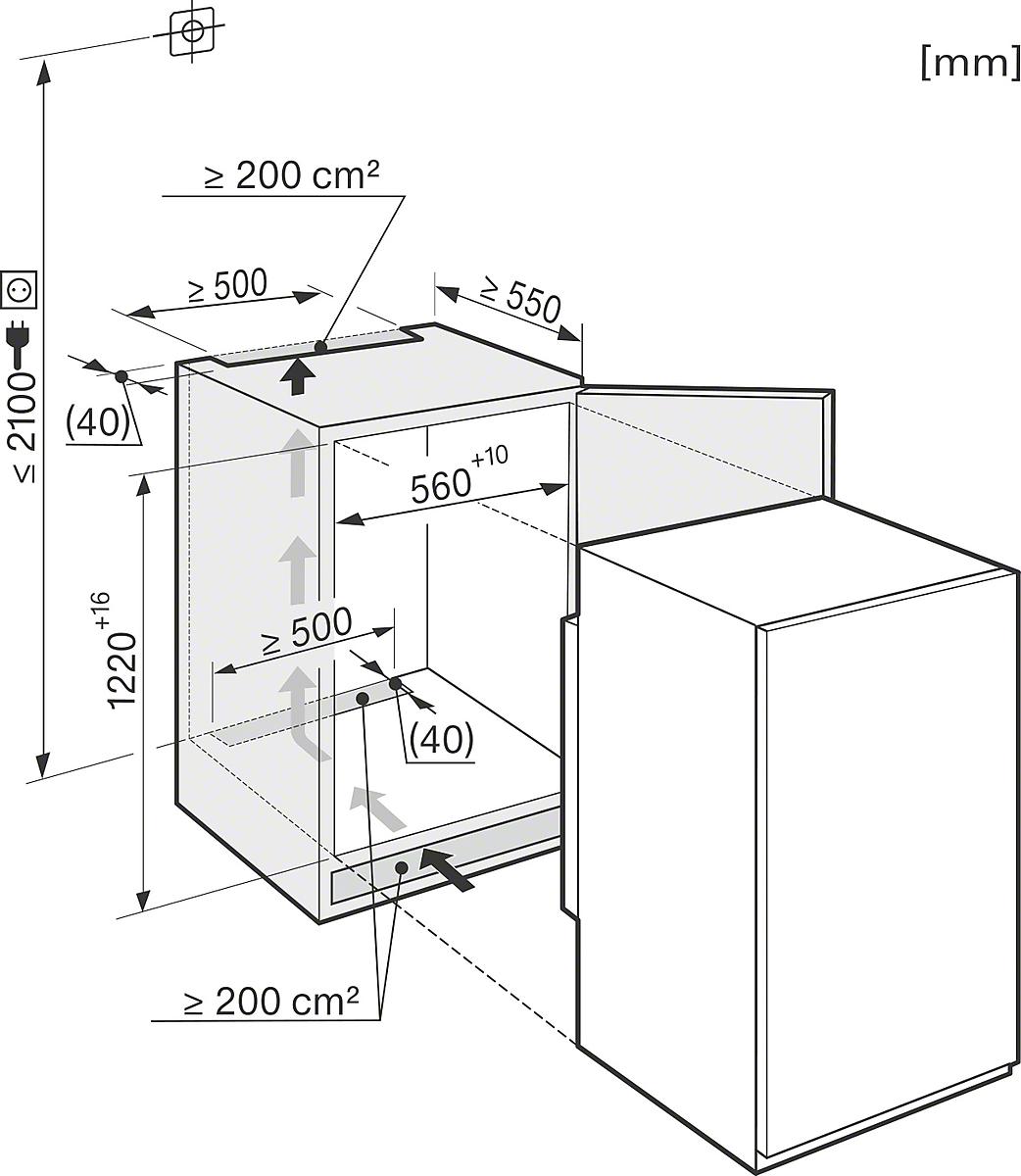 miele k 34142 if k hlschrank links. Black Bedroom Furniture Sets. Home Design Ideas