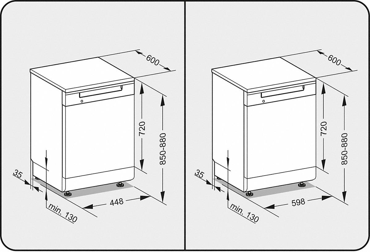 miele g 16720 60 sc stand geschirrsp ler. Black Bedroom Furniture Sets. Home Design Ideas