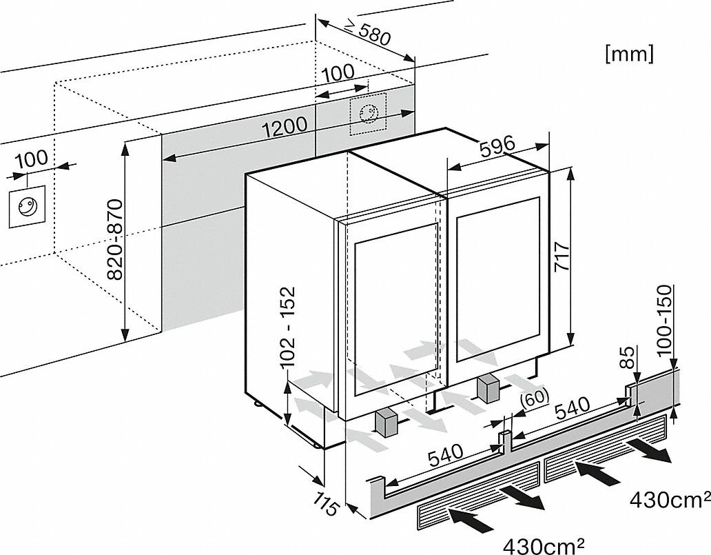 miele ksk 6300 kit side by side. Black Bedroom Furniture Sets. Home Design Ideas