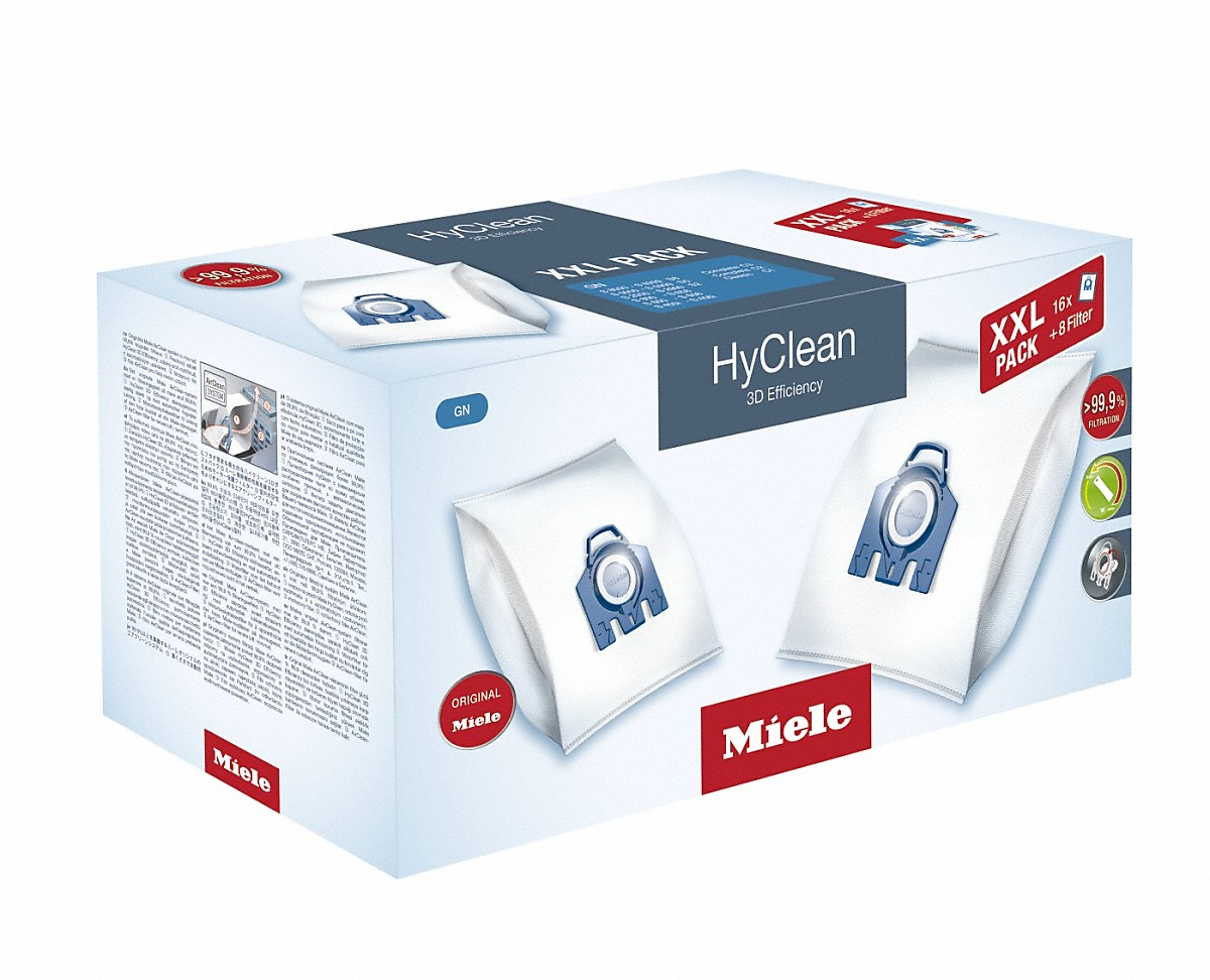 Original Miele HEPA AirClean sf-ha 50/con 4/Miele GN 3D efficienza sacchetti